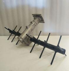 Насадка грабли для бензокос ( мотокос ) (вал 9 шлицов, штанга 26/28 мм)