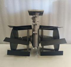 Насадка культиватор тяпка для мотокосы  вал 9 шлицов на 28 мм