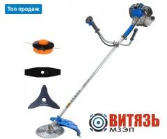 Бензокоса Витязь БГ-3900 три насадки
